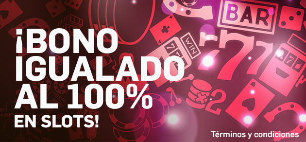 Betfair casino bono igualado 100%