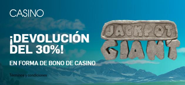 Betfair casino devolucion 30%
