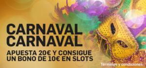carnaval slots betfair
