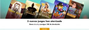 Premiercasino 5 juegos nuevos consigue 10€ de devolucion