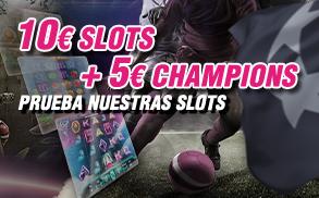 Wanabet 10€ Slots + 5€ Champions