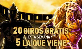 Sportium casino 20 Giros Gratis y 5 la semana que viene