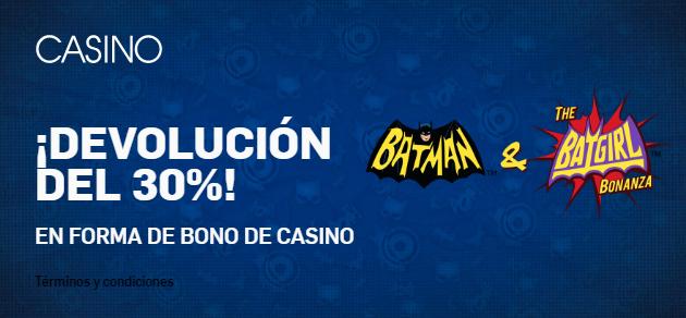 Betfair Casino - Devolución en slot del 30%