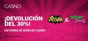 Betfair casino slots 30% devolucion