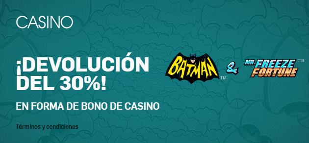 Betfair casino slots devolución 30%
