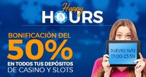 Paston 50% extra en deposito casino y slots