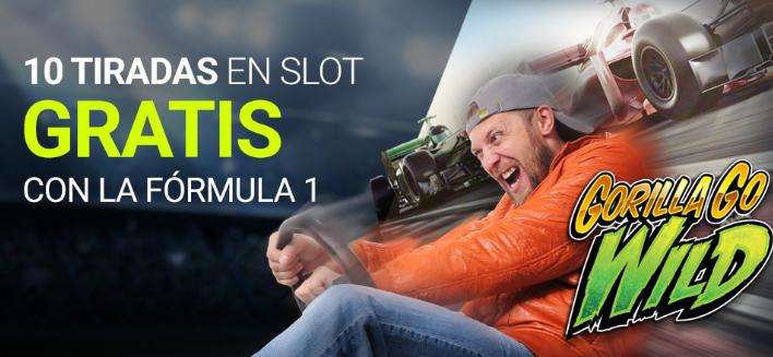 tragaperras online Luckia Casino 10 tiradas gratis con la F1