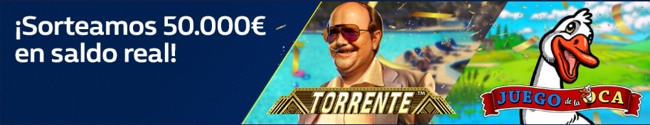 tragaperras online William Hill casino Sorteo 50.000€ Slot Torrente o la Oca